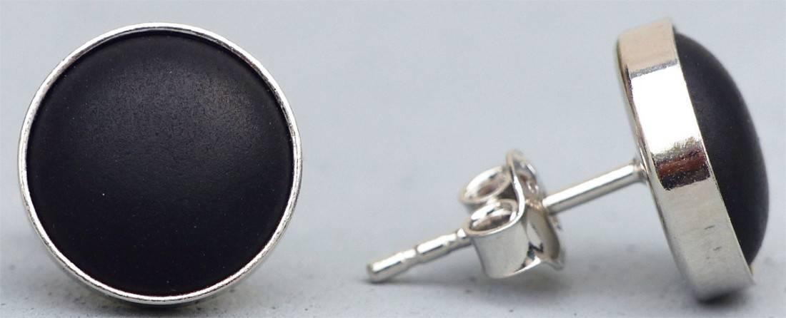 schwarze-ohrstecker-silber