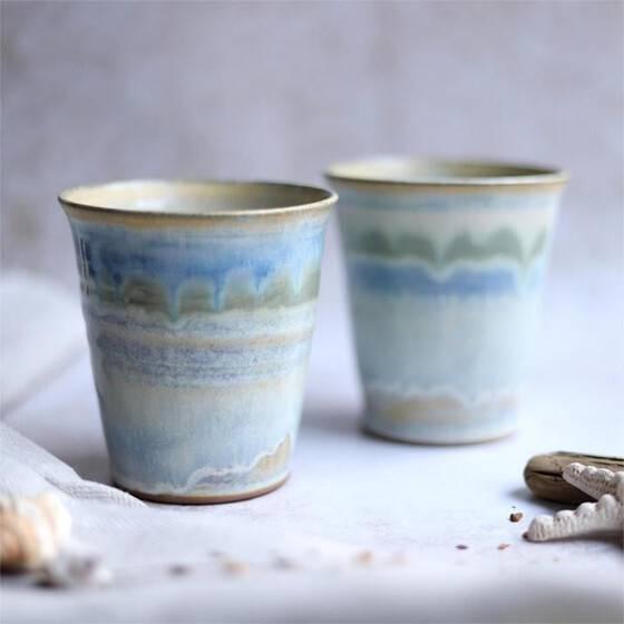 keramikbecher-set-maritim-beige-blau-gruen