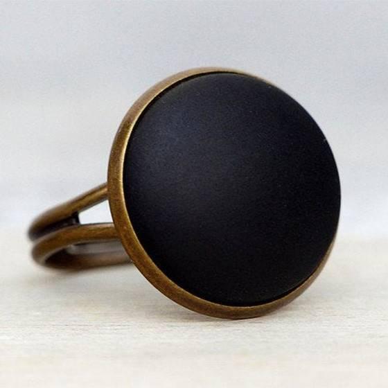 schmuckset-basic-matt-schwarz-bronze-ring