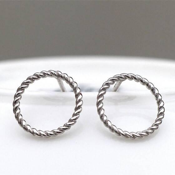 925-er-silber-ohrringe-circles-schlicht