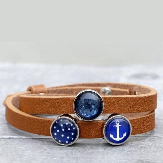 lederarmband-marine-glitter
