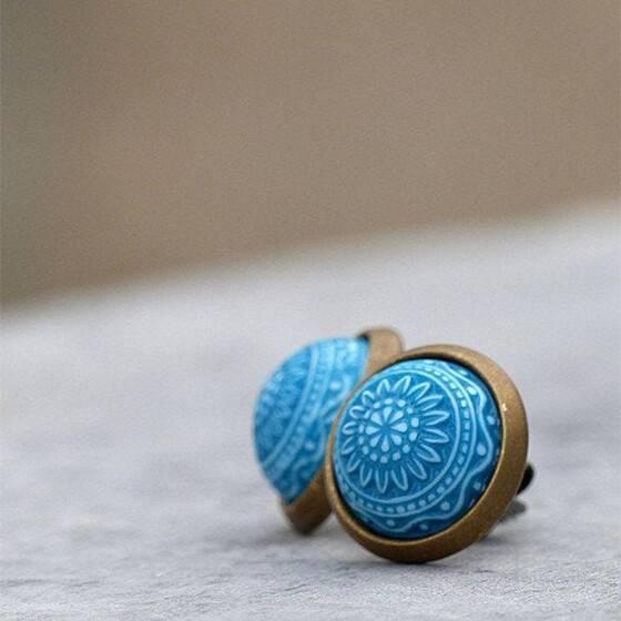 miniohrstecker-marrakesch-blau-tuerkis-relief-schmuckstein-3