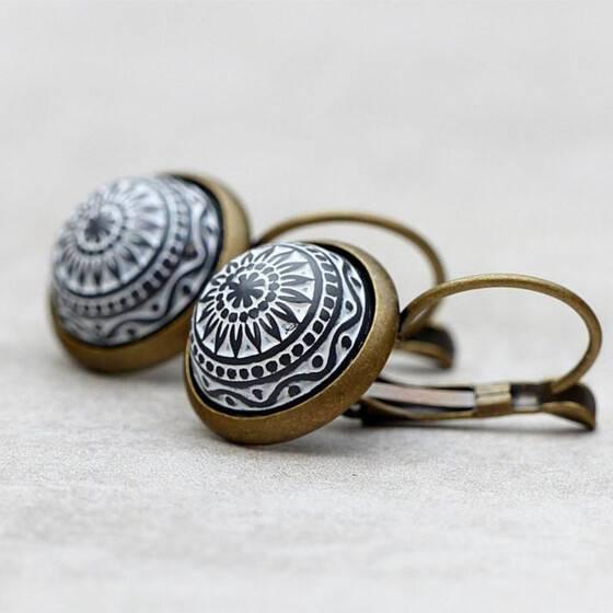 ohrringe-marokko-orientalisches-muster-grau-reliefstein-arabisch-2