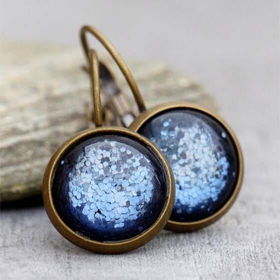 ohrringe-schimmernd-denim-blue-blau-polaris-cabochon-bronze