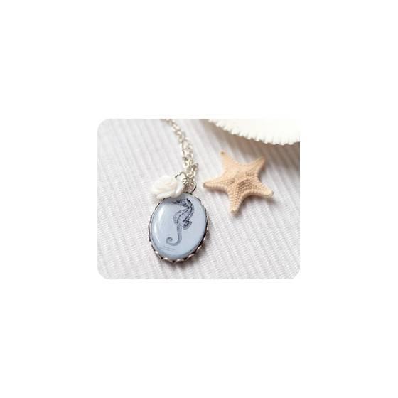 blauer-ozean-halskette-zierliche-halskette-seepferdchen