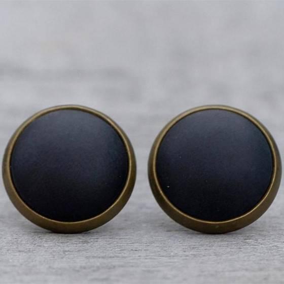 basic-schmuckset-schwarz-matt-ohrstecker-bronze