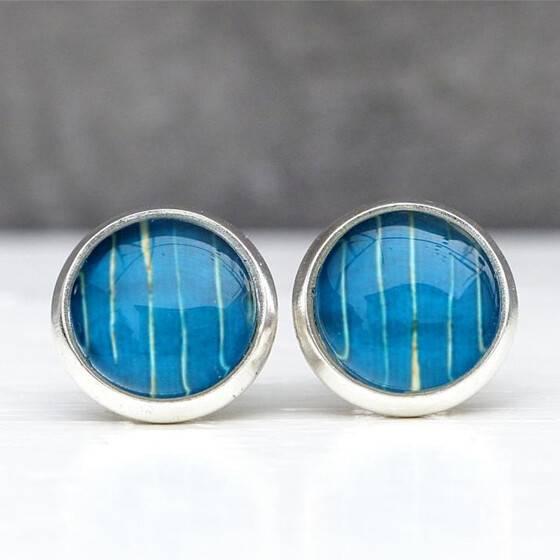 silberne-ohrstecker-aquarell-blau