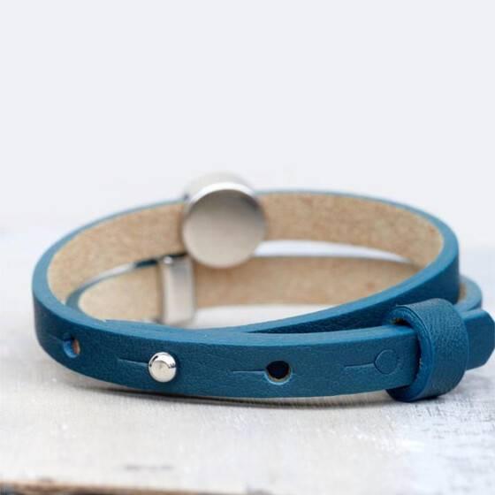 lederarmband-petrol-blau-star-dots-sommerschmuck-3