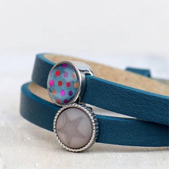 lederarmband-petrol-blau-star-dots-sommerschmuck-2
